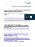 Declarație de Presa Taxare Electronica_Victor Chironda