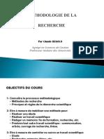 methodologie recherche Pr BEKOLO