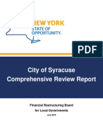 Syracuse Financial Restructuring Board report