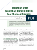 Application of Air Separation Unit in SINOPEC's Coal Chemical Business