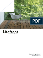Litefront structural fences