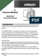 Omron RS6 Wrist Blood Pressure Monitor Instruction Manual (English)