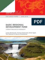 SADC Regional Development Fund Operationalisation Imminent