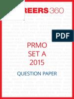 PRMO Question Paper 2015 Set A