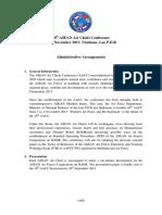 10th AACC Admin Arrangements