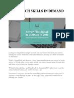 14 Top Tech Skills in Demand in 2019