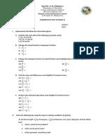Summative Test in Math 6