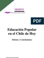 EDUCACIÓN POPULAR DEBATE Y CONCLUSIONES