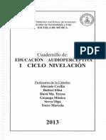 Educación Audioperceptiva - I Ciclo de Nivelación
