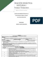 Planificación Didáctica Historia i Trimestre 1