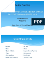 Paraparesis Upper Motor Neuron Caused by Ependymoma