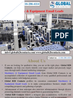 Machinery & Equipment Email Leads