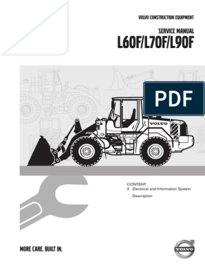 VOLVO L60F L70F service manual | Battery Charger | Fuel Injection | Volvo L90f Wiring Diagram |  | Scribd