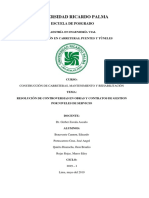 Resolucion de Controversias en Obras y Contratos de Gestion Por Niveles de Servicio