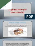 Reglarea secretiei pancreasului