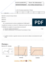 Devoir de Contrôle N°2 - Sciences physiques pH d'une solution, le transistor - 2ème Informatique (2010-2011) Mr Ben Abdeljelil Sami