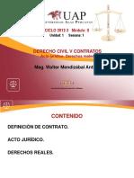 1 Contratos. Acto Jurídico. Reales
