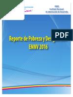 Reporte de Pobreza y Desigualdad - EMNV 2016 - Final