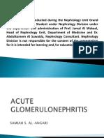 Acute Glomerulonefritis