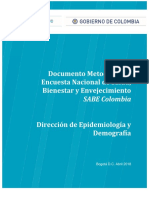 Encuesta SABE 2015_Documento Metodológico