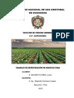 Trabajo de Investigacion de Horticultura