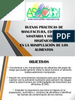 Presentación Buenas Practicas de Manufactura, Educación Sanitaria y