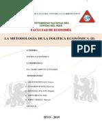 La Metodologia de La Politica Económica (Parte Teórica)