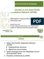 Introduction to the Asia Pacific Adaptation Network (APAN)