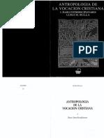 Antropologia de La Vocacion Cristiana - ToMO I (1)