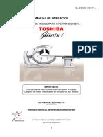 Angiógrafo Toshiba Infx-8000V Manual de Operación