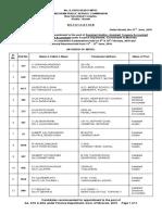Final Result of Aa Ada Ata Under Finance Department 2019
