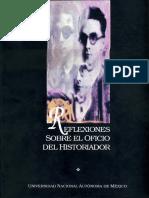 Von Wobeser, Gisela - Reflexiones sobre el oficio del historiador.pdf