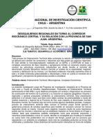 001 - Desequilibrios Regionales en Torno Al Corredor Bioceánico Central y Su Relación Con La Provincia de San Juan. Argentina