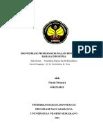 Identifikasi Problematik Nurul Nitasari 0202511023