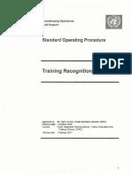 SOP Training Recognition
