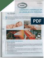 Licencias Laborales en La Legislación Peruana