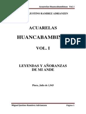 Miguel Justino Ramírez Adrianzen Acuarelas huancabambinas