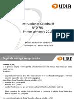 Instrucciones Catedra III Metodologia de Investigacion
