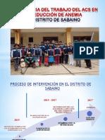 Experiencias Exitosas Del Acs Sabaino Para Lima
