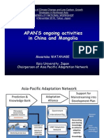 APAN'S ongoing activities in China and Mongolia