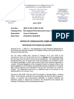 Notice of Consolidated Complaint and Request to Schedule Hearing