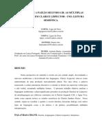 ÁGUA VIVA E A PAIXÃO SEGUNDO GH - AS MÚLTIPLAS LINGUAGENS EM CLARICE LISPECTOR - UMA LEITURA... (UNIT-SE)