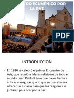 Encuentro Ecuménico Por La Paz