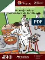 Fogón mejorado y moldeadoras de tortillas.
