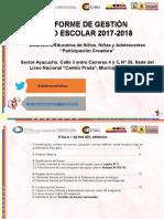 Informe Final de Gestión Año Escolar 17-18_MICHELENA
