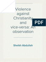 Violence against Christianity and vice-versa