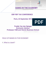 1 the Role of Banks in the Economy Freddy Van Den Spiegel