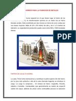Tipos de horno para la fundicion de metales