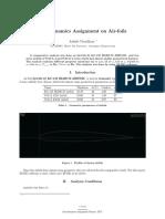 Aerodynamics Assignment on Air-foils