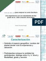 Propuesta Para Presentar La Sistematización